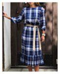 Sukienka z falbaną Viva Błękit