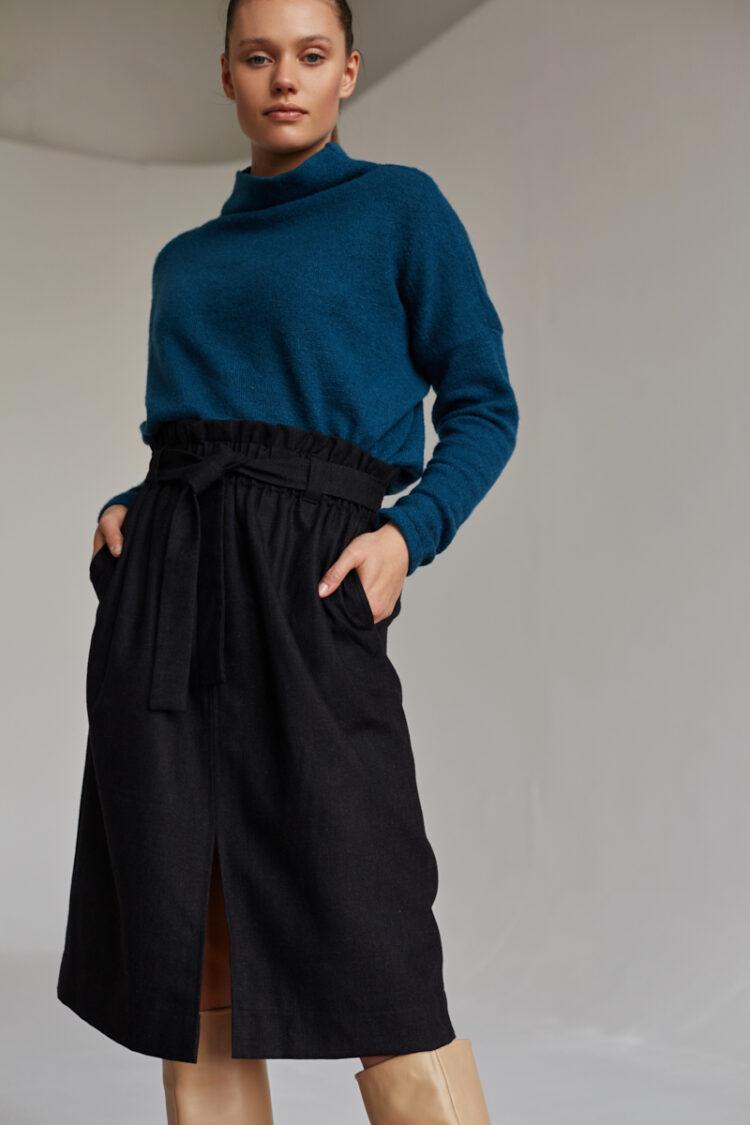 Spódnica wełniana Kora Dark Grey